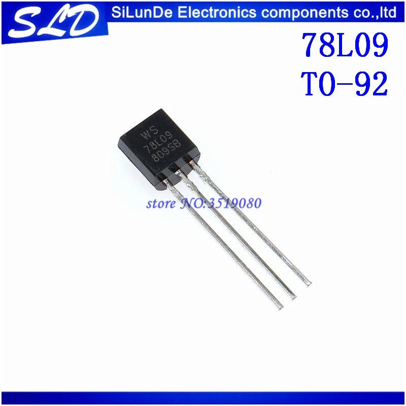 20 unids/lote 78L09 WS78L09 L78L09ACUTR REG LDO 9V 9V 0.1A TO92-3 nuevo y original en stock