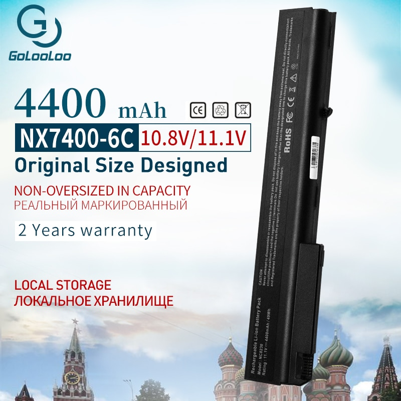 11,1 v 4400 mAh batería de ordenador portátil para HP nx7300 nx7400 NC8200 NC8230 NW8200 NW8240 NX8200 NX8220 NX9420 8510p nc8220 nw8220 nc8240