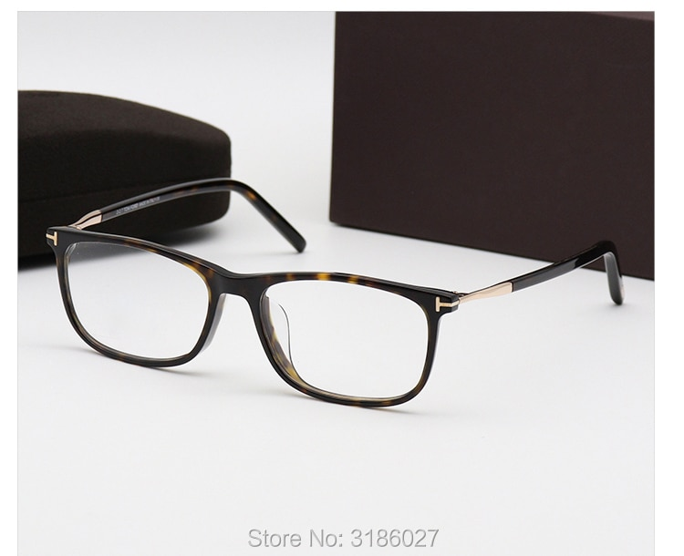 نظارات توم خمر للرجال والنساء ، ماركة بصرية ، نظارات طبية ، أسيتات ، قصر النظر ، مع صندوق