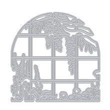 Plantes et fenêtres matrices de découpe en métal bricolage Scrapbooking papier estampage matrice décor