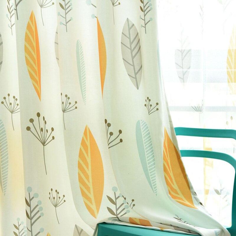 Скандинавские затемненные шторы из хлопка и льна для гостиной, спальни, кухни, оконные шторы, тюлевые шторы, шторки 70-75%