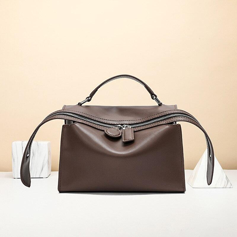حقيقية حقيبة الجراب الجلدية حقائب للنساء الماركات مصمم الرجعية الإناث سعة كبيرة حقيبة كتف حقائب اليد بسيطة 2021 جديد وصول