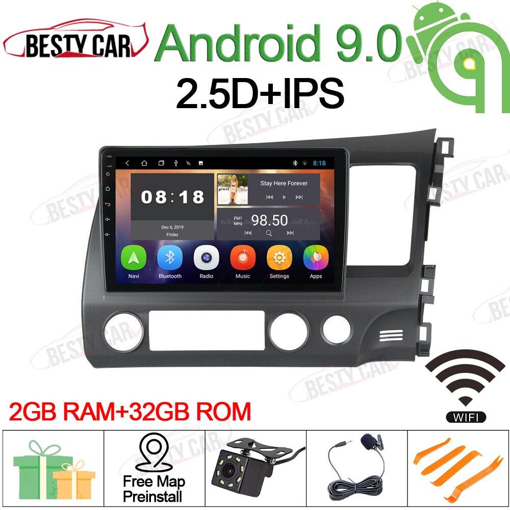 10.1 Android 9,0 Auto-Multimedia-Player Stereo Radio GPS Navigation für 2006-2011 Honda Civic (RHD) navigation Kopf BT