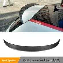 Rear Roof Spoiler Wing Lip for Volkswagen VW Scirocco R 2009 - 2013 GTS 2013 - 2014 Non Standard Carbon Fiber / FRP Unpainted