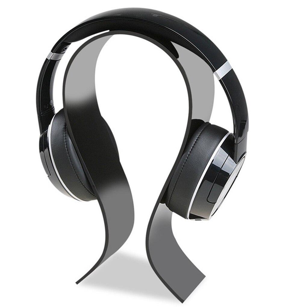 Mall Acrylic Headphone Display Stand Supermarket Plexiglass Headset Holder U-type Earphone Mount