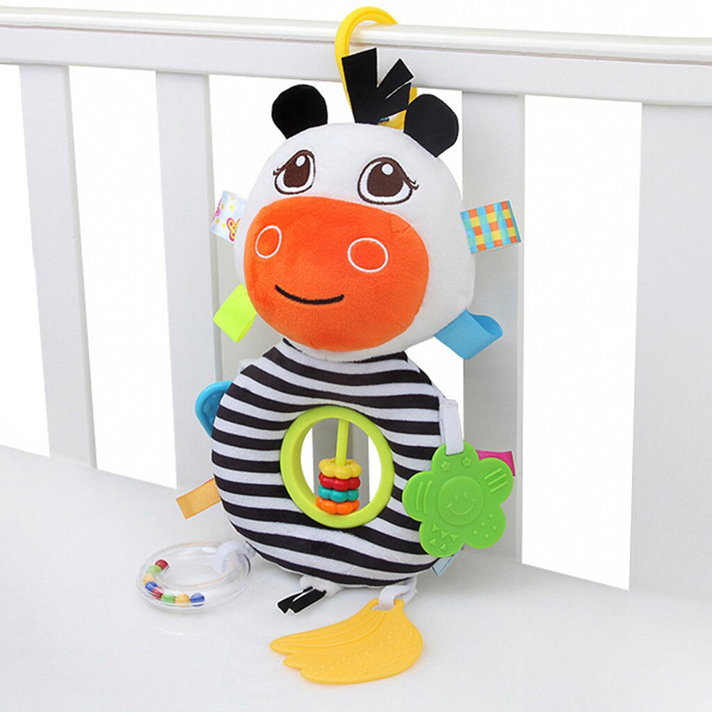 Juguetes del bebé de la música de peluche de carrito para muñeca colgando cuna suave juguetes de dibujos animados de juguete cama de dormir bien herramienta apaciguar sal