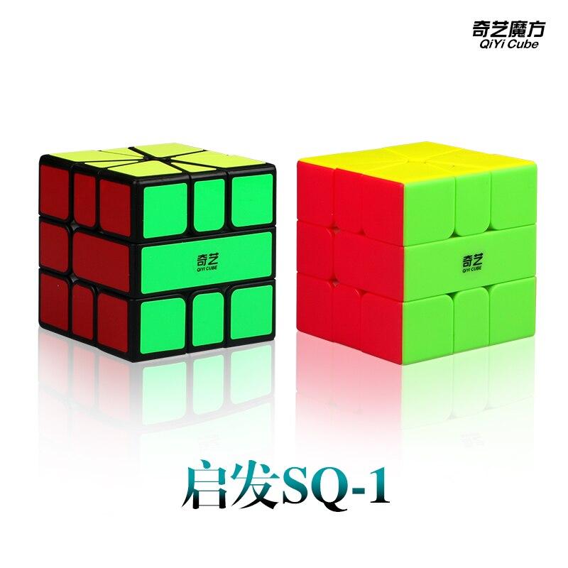 Mais novo qiyi qifa sq-1 cubo mágico puzzle quadrado 1 cubing velocidade sq1 xmd mofangge twisty aprendizagem educacional crianças brinquedos jogo