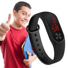 Sports LED display electronic watch bracelet unisex multi-color watch leading sports fashion electro