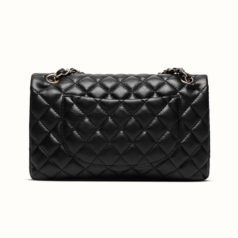 السيدات جلد طبيعي حقيبة يد الموضة سلسلة عادية الكتف حقيبة ساعي المحفظة الكلاسيكية الشهيرة العلامة التجارية مصمم حقيبة ساعي