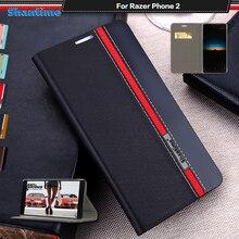 Étui en cuir de luxe pour téléphone Razer 2 étui à rabat pour téléphone Razer 2 coque de téléphone étui arrière souple en Silicone or polyuréthane thermoplastique