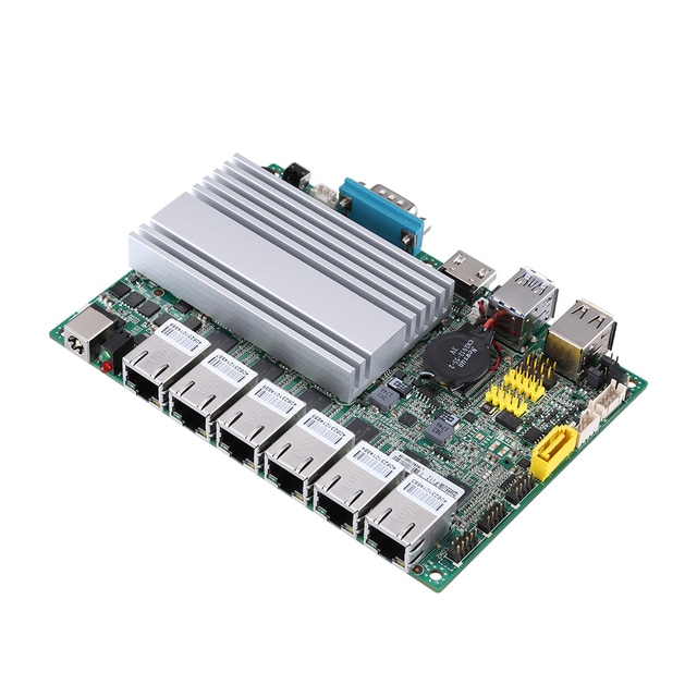 QOTOM Mini PC Core i3 i5 i7 Fanless VPN Computer 6 Gigabit Ethernet AES-NI OPNsense Firewall Ubuntu Sophos Q555G6 Q575G6 8