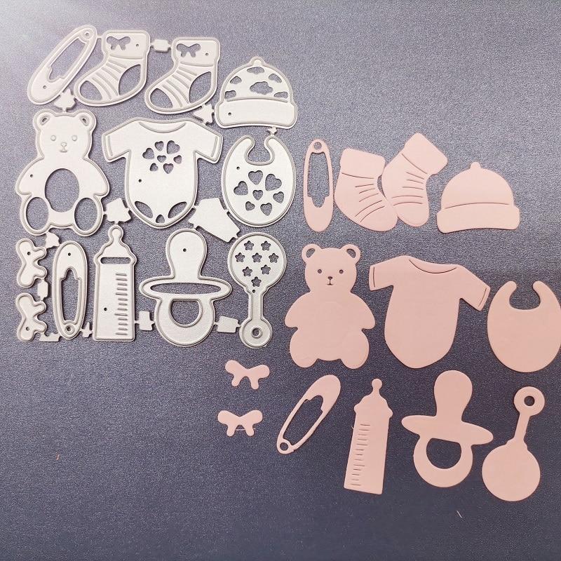 Cutting Dies Baby Supplies Goods Ddecoration Metal Steel Frames DIY Scrap Booking Photo Album Embossing Paper Cards 10.5*8.4 cm