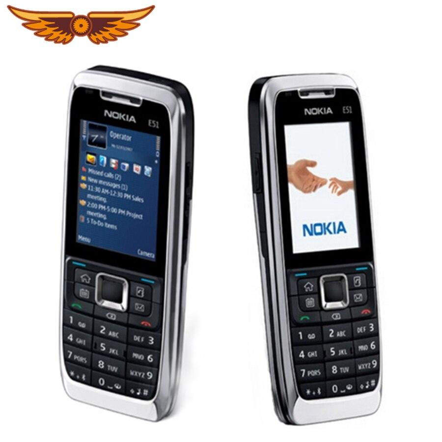 Original desbloqueado Nokia E51 Symbian OS 2,0 pulgadas 2MP Cámara 3G de 1050mAh 240x320 Bluetooth reformado teléfono móvil