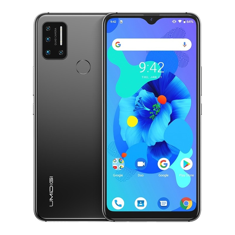 Перейти на Алиэкспресс и купить UMIDIGI A7 Quad Камера глобальная версия 4 аппарат не привязан к оператору сотовой связи мобильный телефон 6,49 ''4GB 64GB Android Восьмиядерный 4150 мАч отпеч...