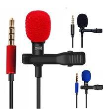 OLLIVAN Pro micros Audio 3.5mm prise Jack micro cravate à clipser enregistrement stéréo Mini Microphone externe filaire pour téléphone 1.5M