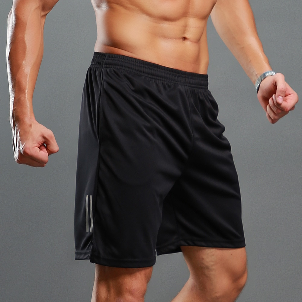 New Fitness Man Bodybuilding Shorts Man Summer Workout Male Breathable Mesh Quick Drying Sports Clothes Jogger Beach Short Pants