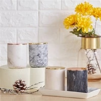 natural marble candle holder home decoration candlestick decoration for wedding party light luxury candlestick