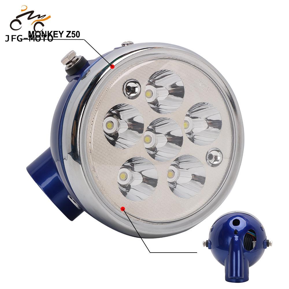 Светодиодный головной фонарь для мотоцикла, головсветильник фонарь, лампа для Honda Mini Trail Z50 Monkey Z50