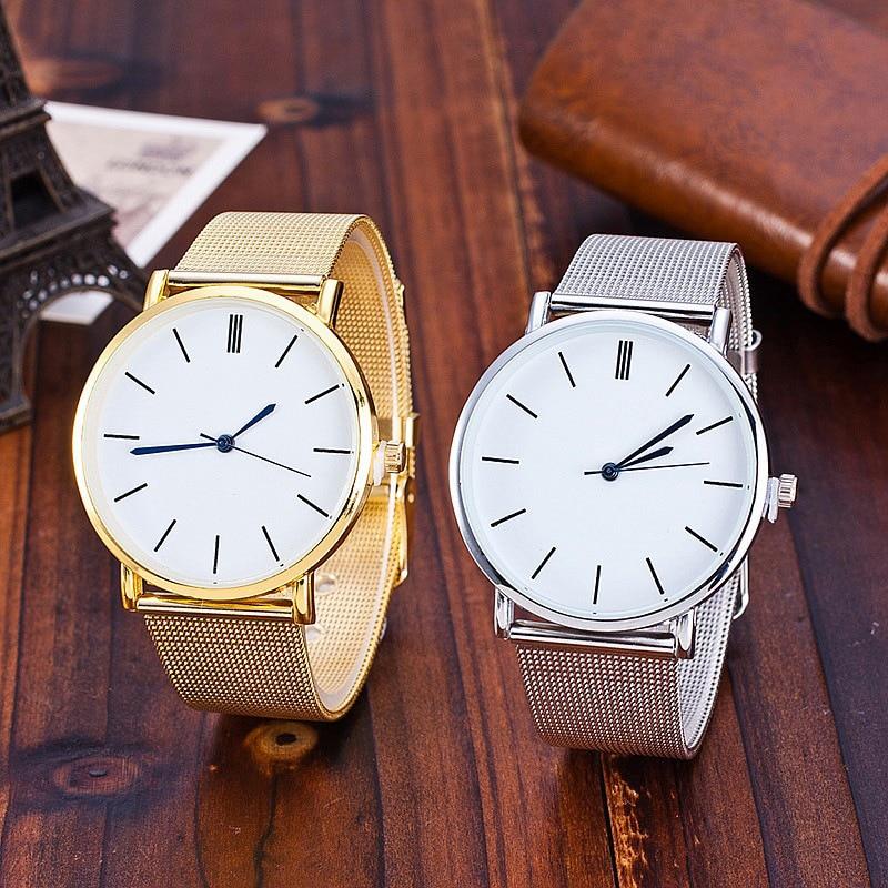 Fashion Casual watches Womens GENEVA Women Quartz Wrist Watch Ultra-thin dial Female Ladies Clock relogio feminino