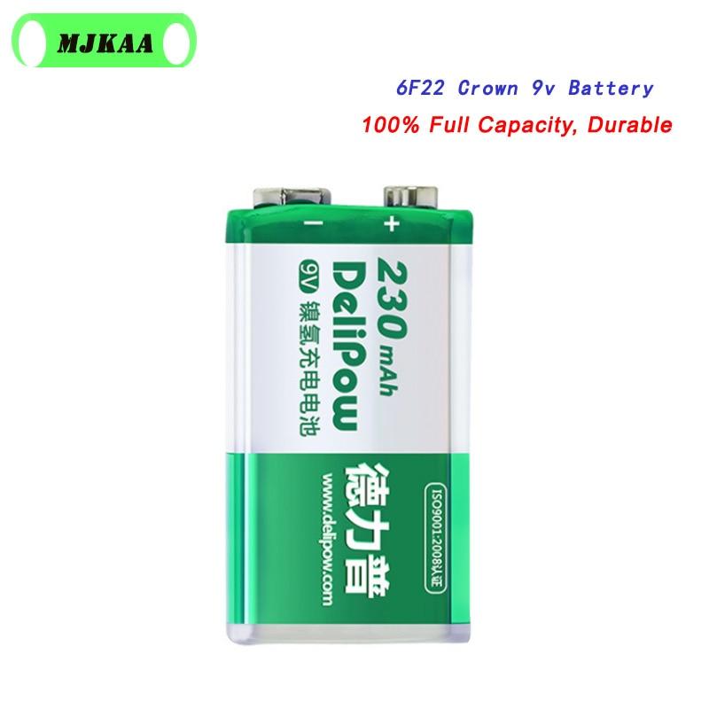 Mjkaa 6f22 9v ni-mh 230mah li-ion bateria recarregável uso para microfone brinquedo controle remoto