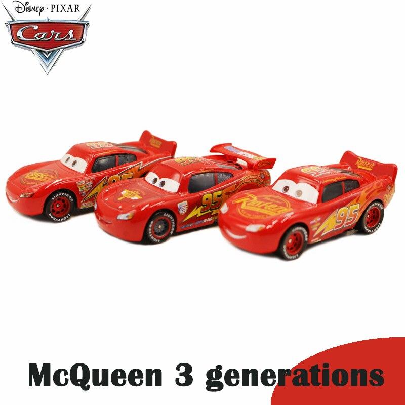 Genuine Disney Pixar Cars classic 3 generations Racing McQueen Red blue Gray color kids Boy Toy Children Birthday