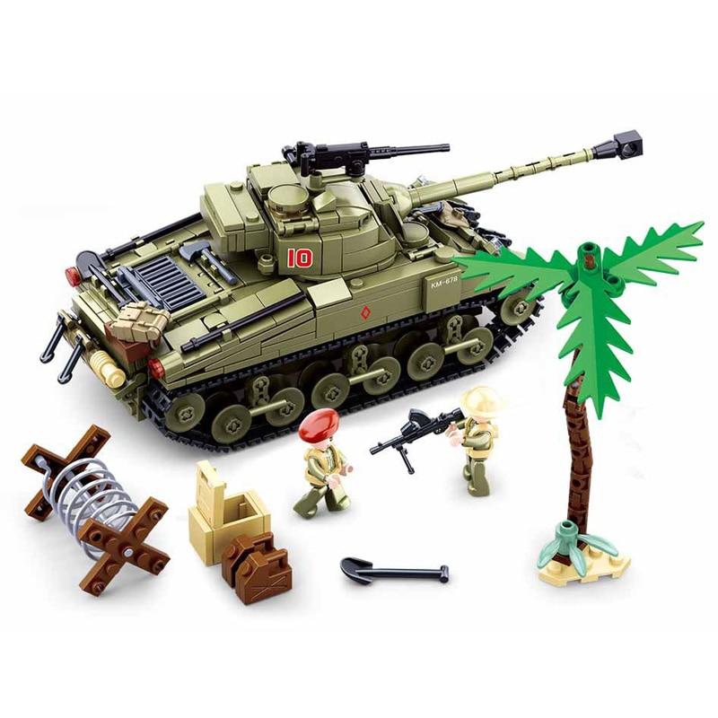 SLUBAN الحرب العالمية الثانية شمال أفريقيا العسكرية Pazer تانك أطقم منمذجة الكلاسيكية MOC اللبنات WW2 شخصيات الجيش الطوب لعب للأولاد