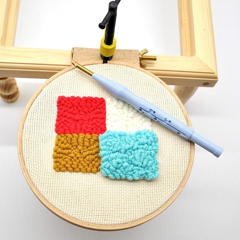 DIY creativo de utensilio para bordado de punto de cruz redonda lazo mano de coser herramientas marco de bambú bordado aro anillo