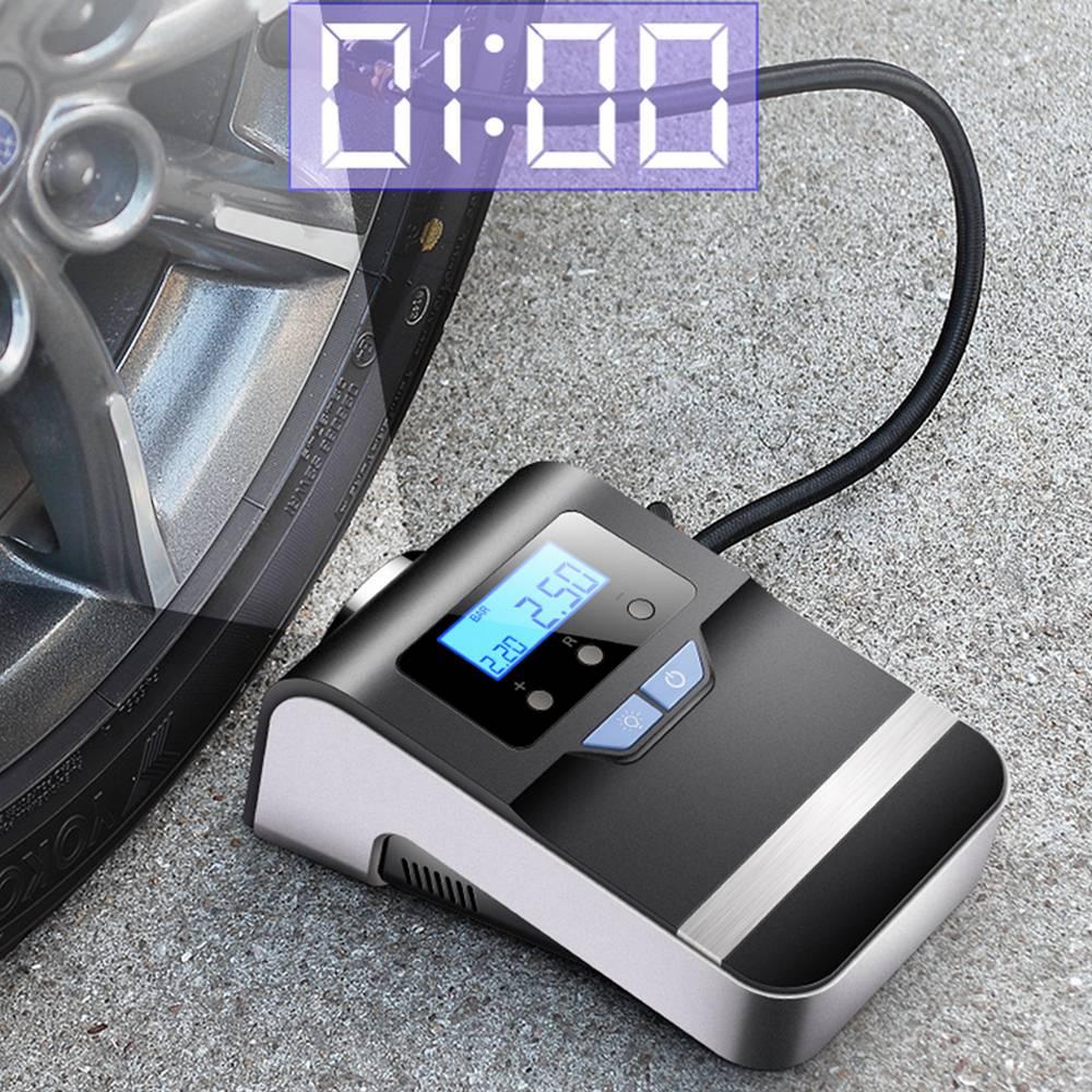 100Psi المحمولة ضاغط هواء للسيارة الرقمية الاطارات منفاخ لإطارات السيارة 12 فولت مع كبير مشرق وامض مقياس الضغط الرقمي