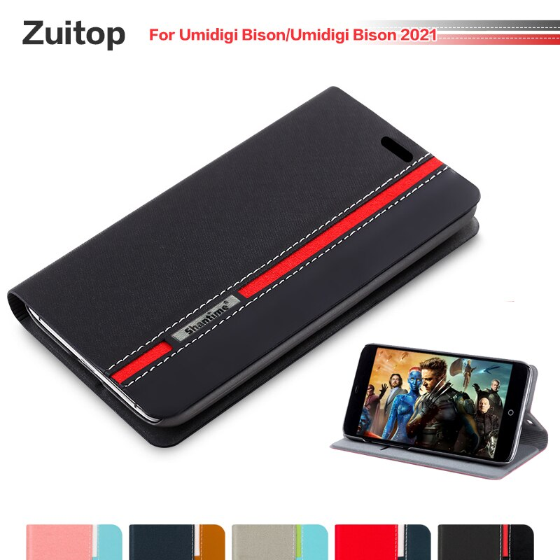 Cowboy PU Leather Phone Bag Case For Umidigi Bison Flip Case For Umidigi Bison 2021 Business Case Soft Silicone Back Cover