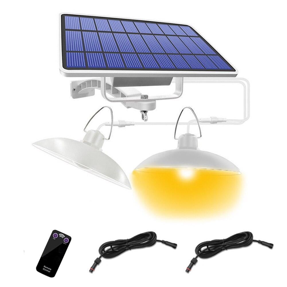 IP65 luces colgantes solares impermeables, almacenamiento de emergencia, habitación, lámpara de cobertizo de Control remoto, jardín, balcón, colgante, Led para el hogar