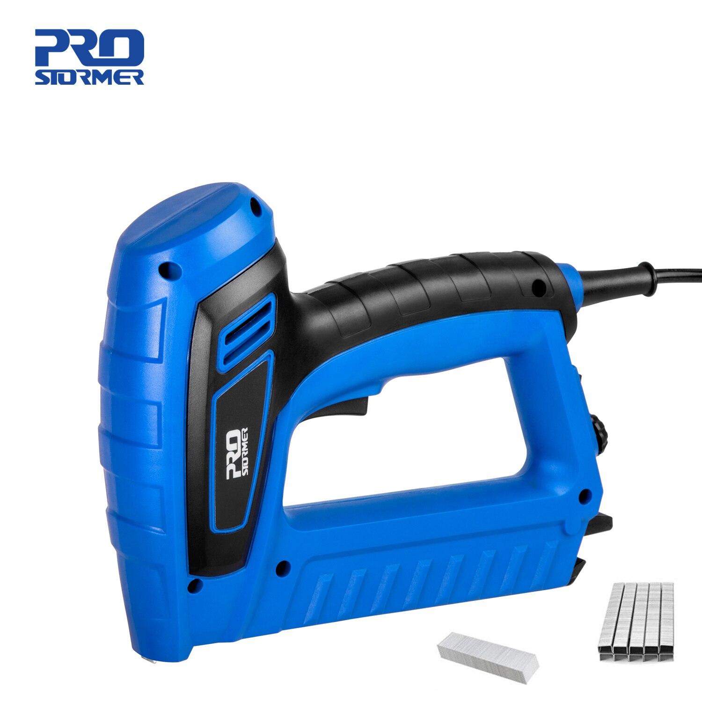 2000W Eletric Nail Gun 220V-240V Woodworking Power Nailer Stapler Straight Nail& Door Nail Staplers Power Tool by PROSTORMER