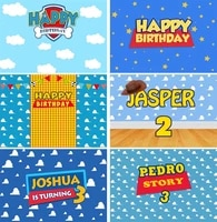 kids birthday toy backdrop boys story girls baby woody cartoon banner birthday party photography background for children table