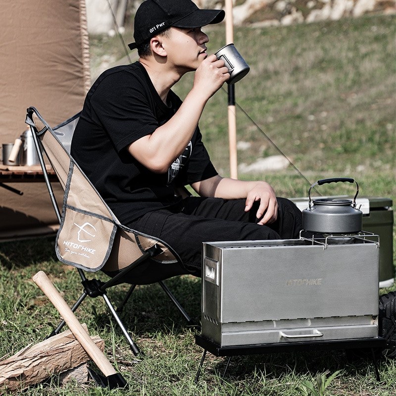 RV Outdoor Camping Aluminum Alloy Folding Barbecue Oven Outdoor Portable Charcoal Barbecue Oven Household Oven Oven enlarge