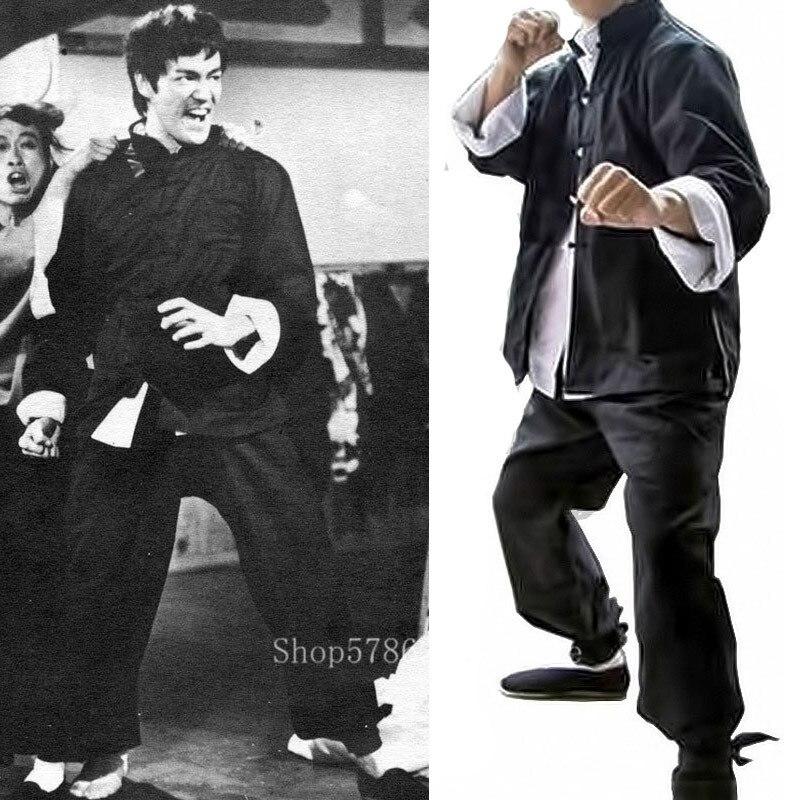 Uniforme De Kungfú Ropa China Tradicional Para Hombre Disfraz De Wushu Tai Chi Bruce Lee Hanfu Blusa 3 Uds Conjuntos Aliexpress