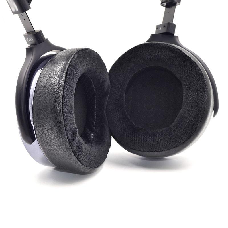 Almohadillas para oreja de espuma de repuesto, 1 par, para auriculares Hifiman HE300 HE500 HE560 560i HE400 HE400i de 100mm