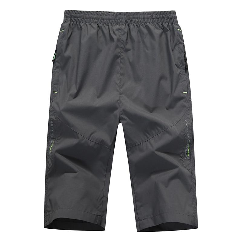 Высококачественные мужские шорты, быстросохнущие тонкие спортивные Капри для отдыха на открытом воздухе, пляжные брюки, высококачественны...
