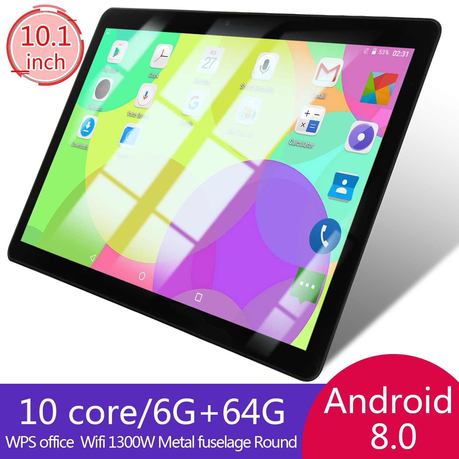 Original genuine 10 core 6+64G Android 8.0 10.1 inch tablet PC suitable for office games