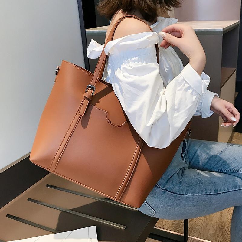 2020 Big Women Handbag Brand Designer Women Shoulder Bags Pu Leather Women Messenger Bags Ladies Casual Tote Bags Sac A Main