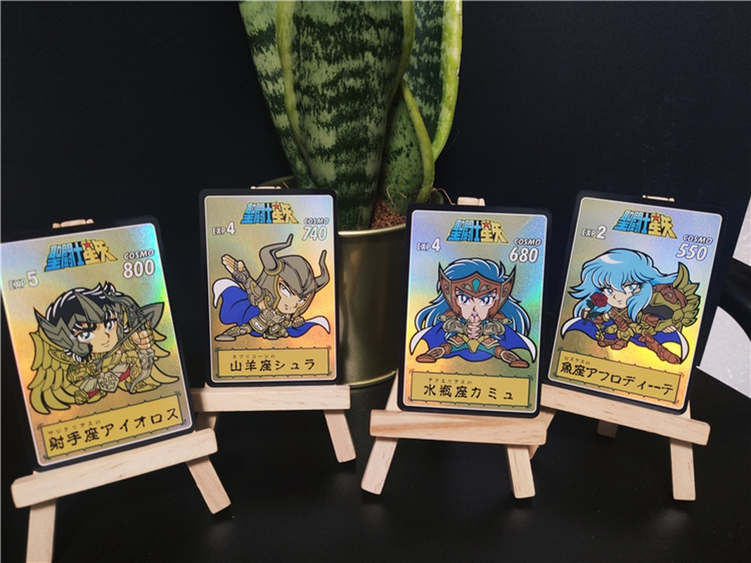 12pcs/set Q Version of Saint Seiya Redraw Golden Zodiac Chapter Hobby Collectibles Game Collection Cards Limited 13pcs set saint seiya golden zodiac golden soul toys hobbies hobby collectibles game collection anime cards