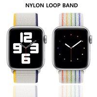 Нейлоновая Спортивная петля для Apple Watch SE, ремешок для часов 40 мм 44 мм, Воздухопроницаемый браслет для смарт-часов iWatch, ремешок серии 6543 42 мм 38 ...