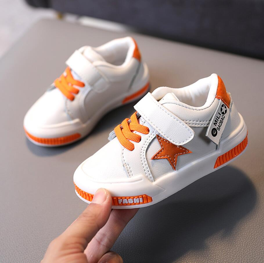 Children's Sports Shoes New 2020 Autumn Boys Girls Casual Shoes Brand Baby Toddler Leather Running S