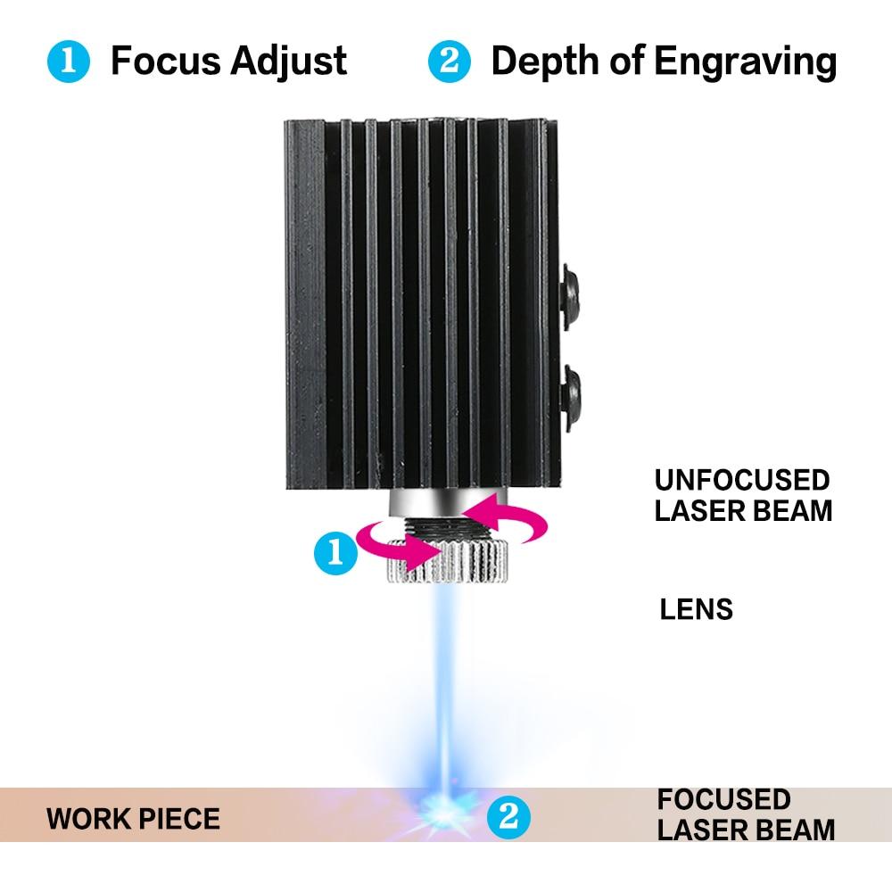 Incisore laser CNC 3000mw fai da te, stampante laser logo, mini - Attrezzature per la lavorazione del legno - Fotografia 2