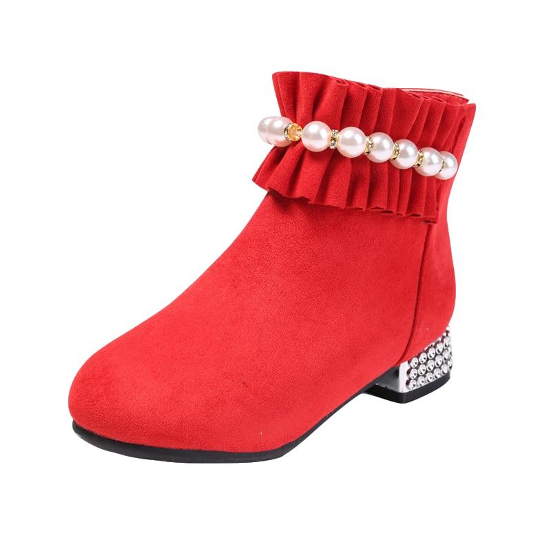 Kids High Heel Princess Boots Fall / Winter 2020 Korean Children's Shoes Low Boots Little 4-12 Years Girl Joker Martin Boots enlarge