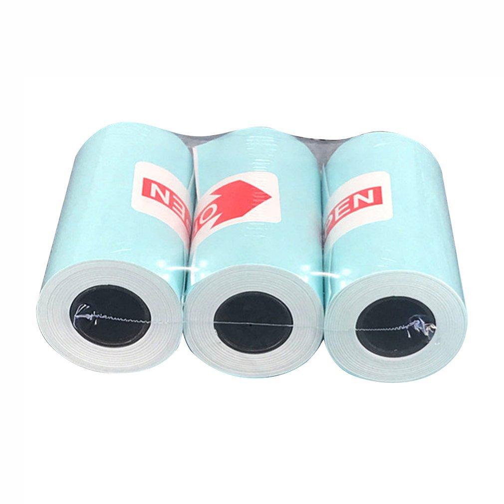 3 рулона/комплект Термальность Бумага печать наклеек самоклеющиеся Фотобумага Бумага рулон для Бумага, которые только начинают Бумага Фото...