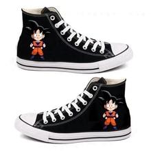 2 Style Anime Dragon Ball Son Goku materiałowe buty z nadrukiem Cosplay mężczyźni kobiety mieszkania miłośnicy oddychające Casual adidasy do biegania unisex