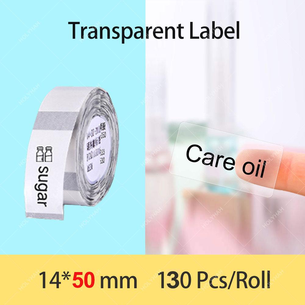 Niimbot D11 D110 D101 Transparent Label Tape paper Waterproof Anti-Oil Tear-Resistant Price Label Pure Color Scratch-Resistant L