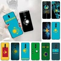 kpusagrt kazakhstan flag silicone black phone case for oppo a5 a9 2020 a5s reno2 z renoace 3pro realme5pro