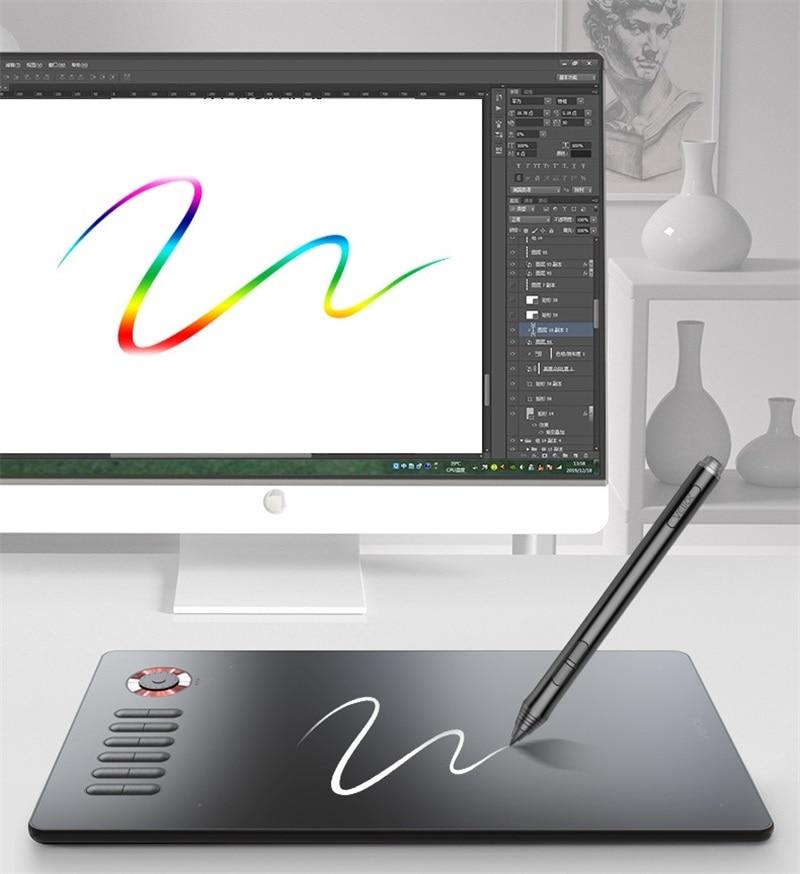 VEIKK A15 Pro 8192 مستوى بطارية خالية من القلم 12 مفتاح دعم ويندوز ماك الهاتف الرقمي جهاز كمبيوتر لوحي للرسومات لعبة 5080 LPI