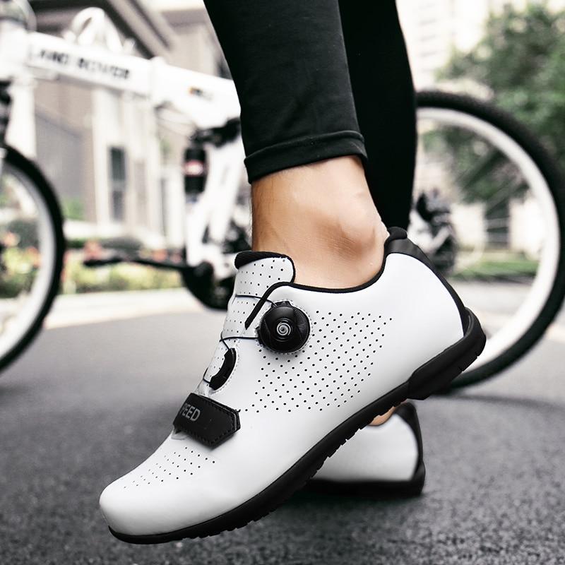 Cycling Shoes Road Men sapatilha ciclismo MTB Ultralight Pro Non-Locking Mountain Bike Reflective Bicycle Triathlon Racing Shoes