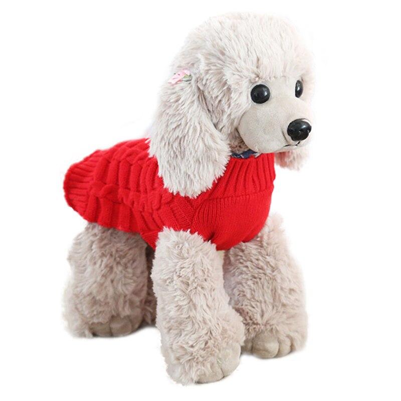 Suéter de tejido de lana cálido de invierno ropa jersey Para perro abrigo de Cachorro de Chihuahua de invierno Para perro rupas Para cachoro suéter